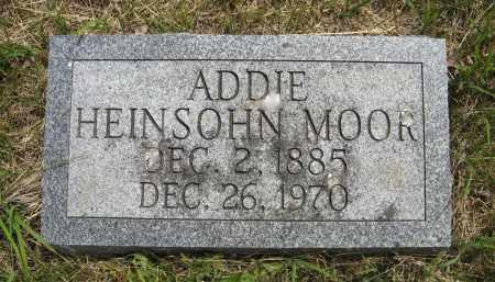HEINSOHN MOOR, ADDIE - Dodge County, Nebraska | ADDIE HEINSOHN MOOR - Nebraska Gravestone Photos