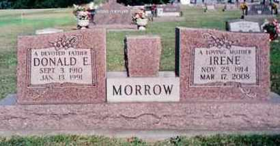 MORROW, DONALD E. - Dodge County, Nebraska | DONALD E. MORROW - Nebraska Gravestone Photos