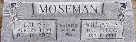 MOSEMAN, WILLIAM A - Dodge County, Nebraska | WILLIAM A MOSEMAN - Nebraska Gravestone Photos