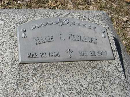 NESLADEK, MARIE C. (CLOSE-UP) - Dodge County, Nebraska   MARIE C. (CLOSE-UP) NESLADEK - Nebraska Gravestone Photos