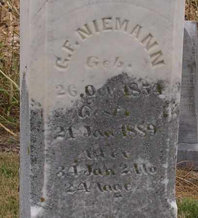 NIEMANN, G. F. - Dodge County, Nebraska | G. F. NIEMANN - Nebraska Gravestone Photos