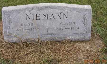 NIEMANN, ELISE - Dodge County, Nebraska | ELISE NIEMANN - Nebraska Gravestone Photos