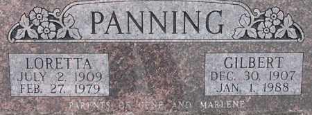 PANNING, GILBERT - Dodge County, Nebraska   GILBERT PANNING - Nebraska Gravestone Photos