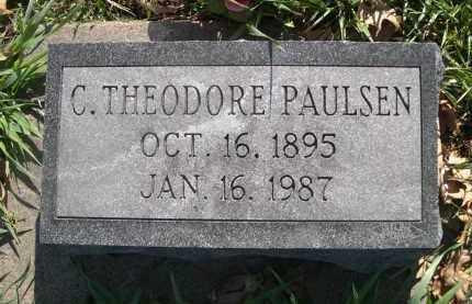 PAULSEN, C. THEODORE - Dodge County, Nebraska   C. THEODORE PAULSEN - Nebraska Gravestone Photos