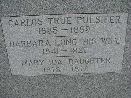 LONG PULSIFER, BARBARA - Dodge County, Nebraska | BARBARA LONG PULSIFER - Nebraska Gravestone Photos