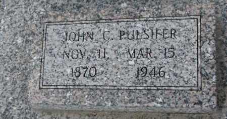PULSIFER, JOHN C. - Dodge County, Nebraska   JOHN C. PULSIFER - Nebraska Gravestone Photos