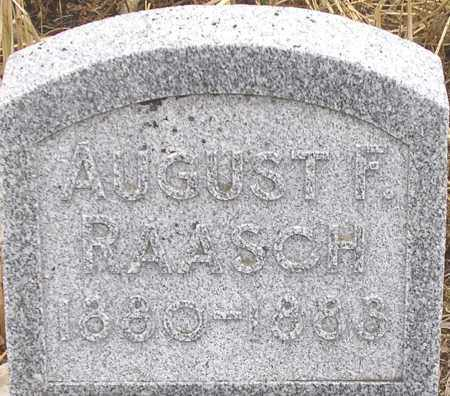 RAASCH, AUGUST - Dodge County, Nebraska | AUGUST RAASCH - Nebraska Gravestone Photos