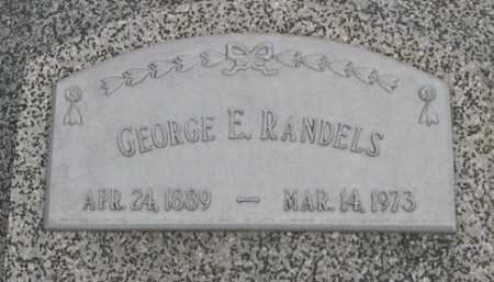 RANDELS, GEORGE E. (CLOSE UP) - Dodge County, Nebraska | GEORGE E. (CLOSE UP) RANDELS - Nebraska Gravestone Photos