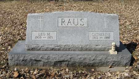 RAUS, LEO M. - Dodge County, Nebraska | LEO M. RAUS - Nebraska Gravestone Photos