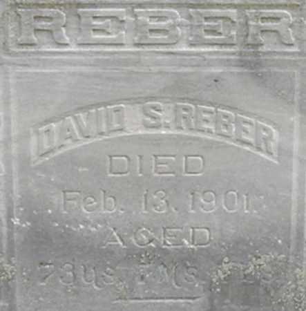 REBER, DAVID - Dodge County, Nebraska | DAVID REBER - Nebraska Gravestone Photos