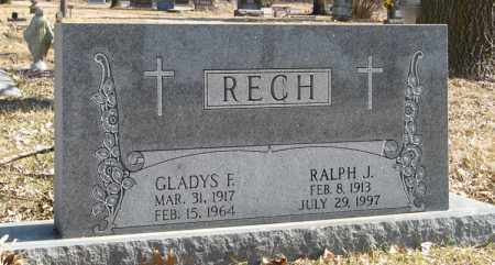 RECH, RALPH J. - Dodge County, Nebraska   RALPH J. RECH - Nebraska Gravestone Photos