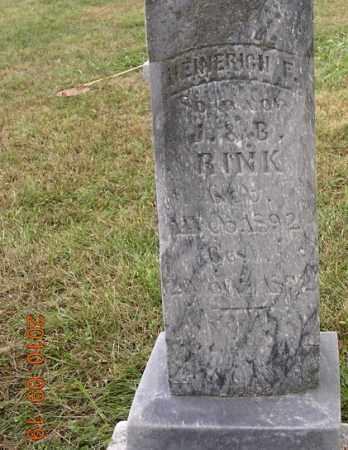 RINK, HEINERICH - Dodge County, Nebraska | HEINERICH RINK - Nebraska Gravestone Photos