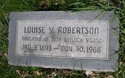ROBERTSON, LOUISE Y. - Dodge County, Nebraska   LOUISE Y. ROBERTSON - Nebraska Gravestone Photos