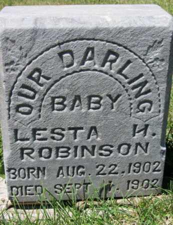ROBINSON, LESTA H. - Dodge County, Nebraska | LESTA H. ROBINSON - Nebraska Gravestone Photos