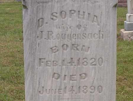 ROGGENSACK, D. SOPHIA - Dodge County, Nebraska   D. SOPHIA ROGGENSACK - Nebraska Gravestone Photos