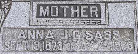SASS, ANNA J G - Dodge County, Nebraska | ANNA J G SASS - Nebraska Gravestone Photos