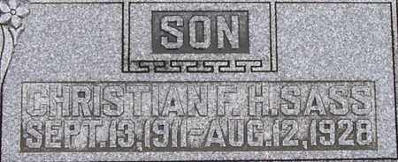 SASS, CHRISTIAN F. H. - Dodge County, Nebraska | CHRISTIAN F. H. SASS - Nebraska Gravestone Photos