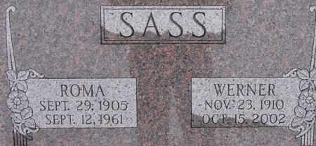 SASS, ROMA - Dodge County, Nebraska | ROMA SASS - Nebraska Gravestone Photos