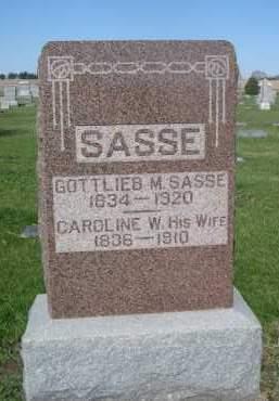 SASSE, CAROLINE W. - Dodge County, Nebraska | CAROLINE W. SASSE - Nebraska Gravestone Photos