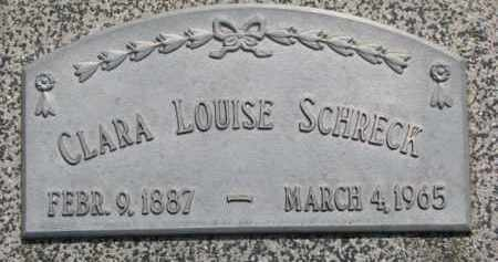 SCHRECK, CLARA LOUISE - Dodge County, Nebraska | CLARA LOUISE SCHRECK - Nebraska Gravestone Photos