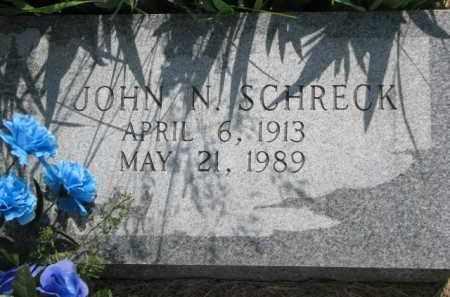 SCHRECK, JOHN N. - Dodge County, Nebraska   JOHN N. SCHRECK - Nebraska Gravestone Photos