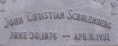 SCHULENBERG, JOHN CHRISTIAN - Dodge County, Nebraska | JOHN CHRISTIAN SCHULENBERG - Nebraska Gravestone Photos