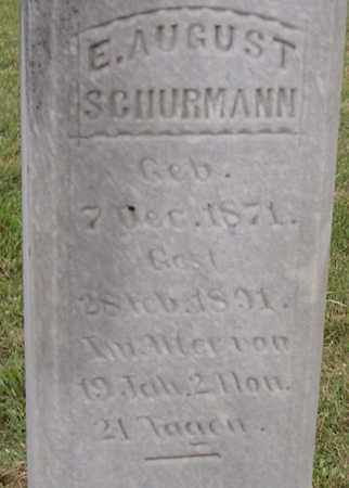 SCHURMANN, E. AUGUST - Dodge County, Nebraska   E. AUGUST SCHURMANN - Nebraska Gravestone Photos