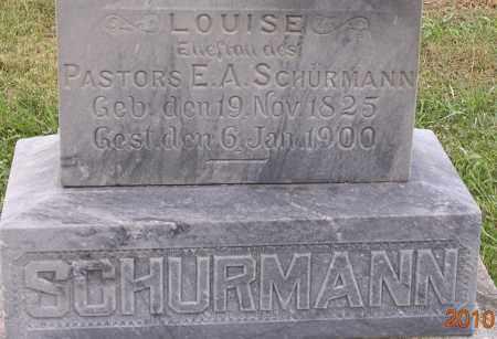 SCHURMANN, LOUISE - Dodge County, Nebraska | LOUISE SCHURMANN - Nebraska Gravestone Photos