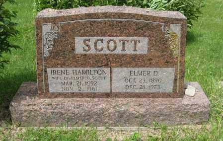 HAMILTON SCOTT, IRENE - Dodge County, Nebraska | IRENE HAMILTON SCOTT - Nebraska Gravestone Photos