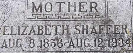 WINEY SHAFFER, ELIZABETH - Dodge County, Nebraska | ELIZABETH WINEY SHAFFER - Nebraska Gravestone Photos