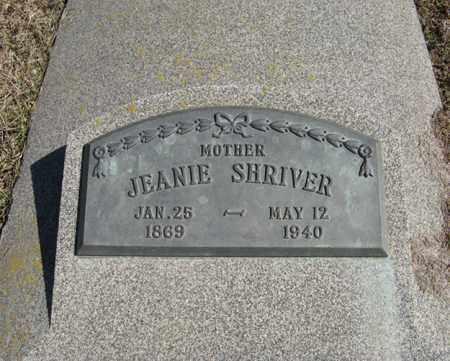 SHRIVER, JEANIE - Dodge County, Nebraska   JEANIE SHRIVER - Nebraska Gravestone Photos