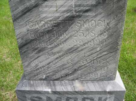 SMOCK, MARY E. (CLOSE UP) - Dodge County, Nebraska | MARY E. (CLOSE UP) SMOCK - Nebraska Gravestone Photos