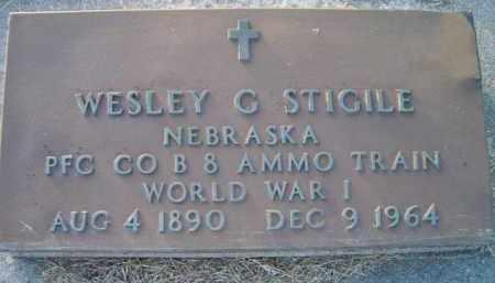 STIGILE, WESLEY G (MILITARY MARKER) - Dodge County, Nebraska | WESLEY G (MILITARY MARKER) STIGILE - Nebraska Gravestone Photos