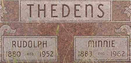 THEDENS, MINNIE - Dodge County, Nebraska | MINNIE THEDENS - Nebraska Gravestone Photos