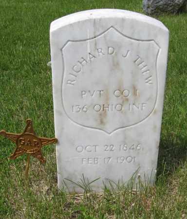 THEW, RICHARD J. - Dodge County, Nebraska   RICHARD J. THEW - Nebraska Gravestone Photos
