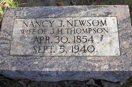 NEWSOM THOMPSON, NANCY JANE - Dodge County, Nebraska   NANCY JANE NEWSOM THOMPSON - Nebraska Gravestone Photos