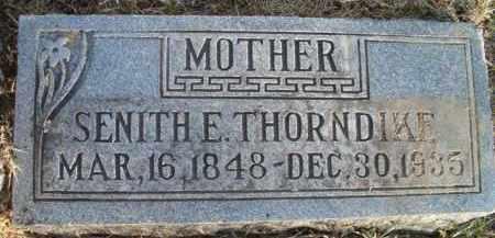 THORNDIKE, SENITH E - Dodge County, Nebraska | SENITH E THORNDIKE - Nebraska Gravestone Photos