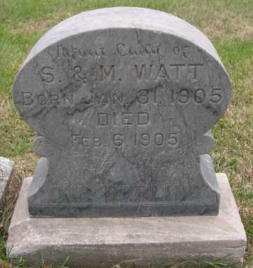 WATT, INFANT - Dodge County, Nebraska | INFANT WATT - Nebraska Gravestone Photos