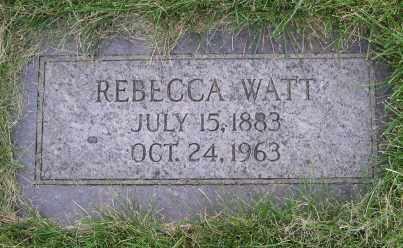 WATT, REBECCA - Dodge County, Nebraska   REBECCA WATT - Nebraska Gravestone Photos