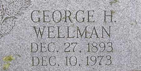 WELLMAN, GEORGE - Dodge County, Nebraska   GEORGE WELLMAN - Nebraska Gravestone Photos
