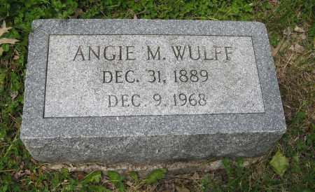 WULFF, ANGIE M. - Dodge County, Nebraska   ANGIE M. WULFF - Nebraska Gravestone Photos