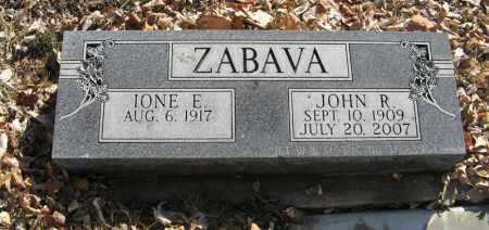 ZABAVA, IONE E. - Dodge County, Nebraska | IONE E. ZABAVA - Nebraska Gravestone Photos