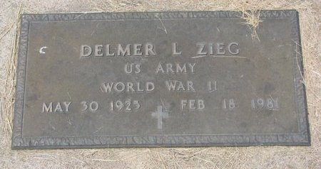 ZIEG, DELMER L. - Dodge County, Nebraska | DELMER L. ZIEG - Nebraska Gravestone Photos