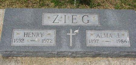 ZIEG, HENRY - Dodge County, Nebraska | HENRY ZIEG - Nebraska Gravestone Photos