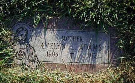 ADAMS, EVELYN L. - Douglas County, Nebraska   EVELYN L. ADAMS - Nebraska Gravestone Photos