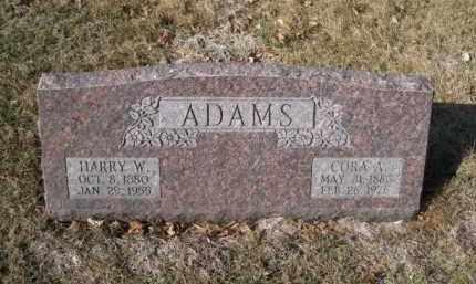 ADAMS, CORA A. - Douglas County, Nebraska | CORA A. ADAMS - Nebraska Gravestone Photos