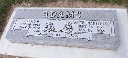 ADAMS, ALICE - Douglas County, Nebraska | ALICE ADAMS - Nebraska Gravestone Photos