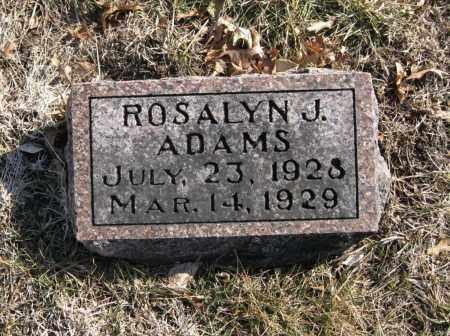 ADAMS, ROSALYN J. - Douglas County, Nebraska | ROSALYN J. ADAMS - Nebraska Gravestone Photos