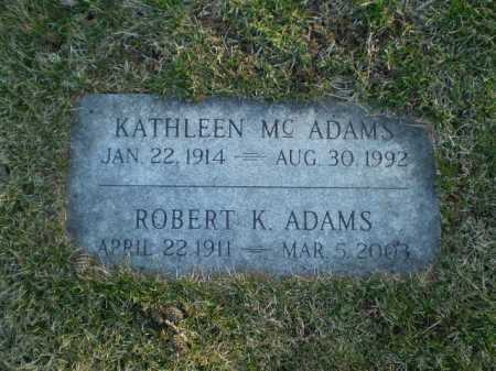 MC ADAMS, KATHLEEN - Douglas County, Nebraska | KATHLEEN MC ADAMS - Nebraska Gravestone Photos