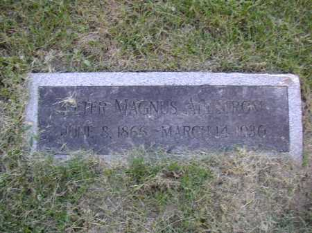 AHLSTROM, PETER MAGNUS - Douglas County, Nebraska | PETER MAGNUS AHLSTROM - Nebraska Gravestone Photos